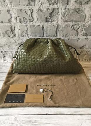 Bottega veneta pouch женская сумка пельмень натуральная кожа