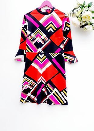 Яркое платье красивое платье миди