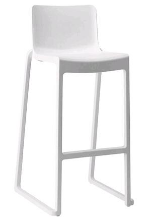Итальянский барный стул Kasar в белом цвете (новинка)