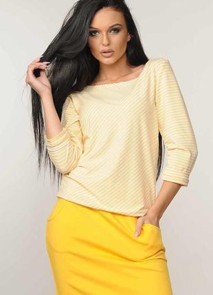 """Блуза """"сити"""" желтый"""
