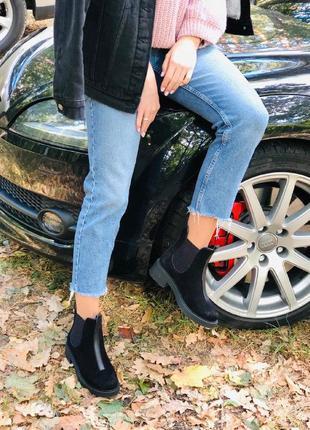 Женские замшевые деми ботинки