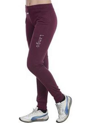 Суперовые стрейчевые трикотажные спортивные брюки с манжетами ...