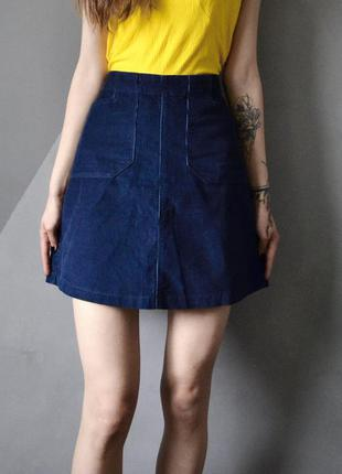 Актуальная вельветовая юбка трапеция f&f