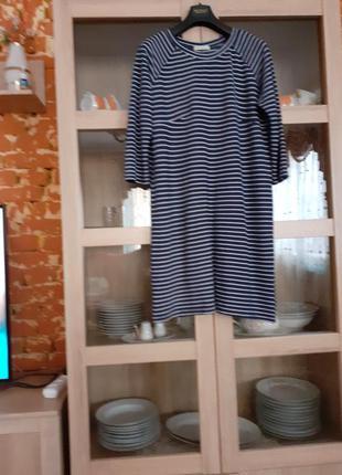 Комфортное вискозное платье большого размера
