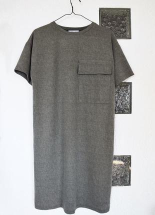 Платье футболка с карманом zara