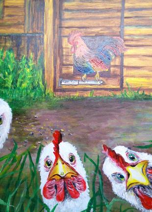 """Продам картину """"Куриная семейка""""."""