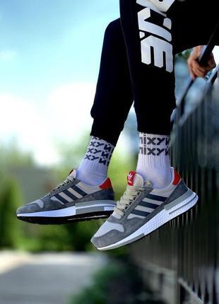 Adidas zx 500 ✰ мужские кроссовки ✰ серого цвета 😻