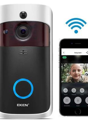 Беспроводной видеозвонок с датчиком движения и WI-FI Eken V5 Blac