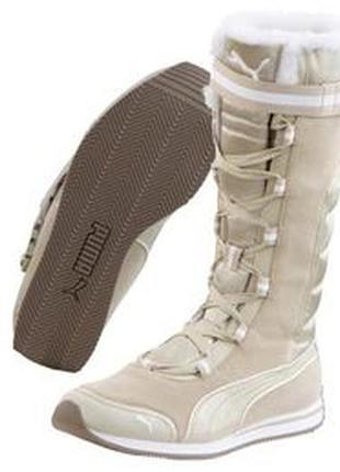 Зимние деми замшевые кожаные атласные высокие сапоги на шнуров...
