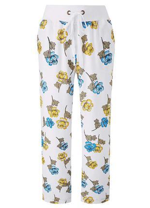 Летние легкие брюки штаны батал большой размер uk 28 на резинк...
