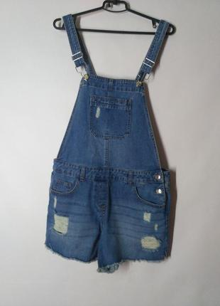Комбинезон ромпер джинсовый с шортами