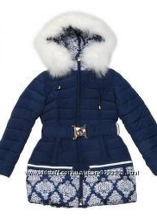 Зимнее пальто Кико на девочку 158,164р с мехом