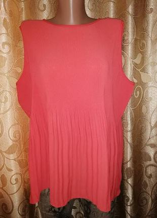 🌺🎀🌺женская плиссированная женская шифоновая майка, блузка 16 р...
