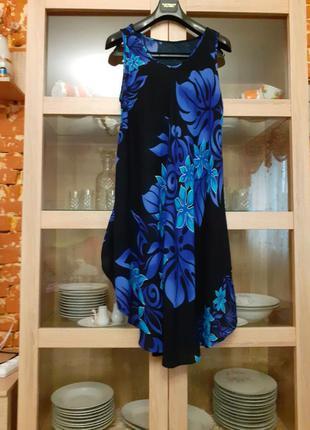 Красивое вискозное платье разлетайка большого размера