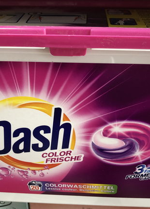 Капсулы Для Стирки Dash 3in1  Colore 15 Caps Капсулы для стирки