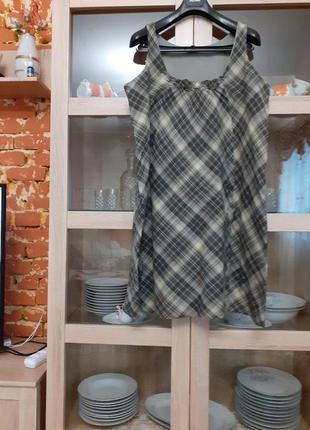 Невесомое котоновое на подкладке платье большого размера