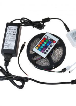 Светодиодная лента RGB 3528 300 LED 5м с пультом и блоком питания