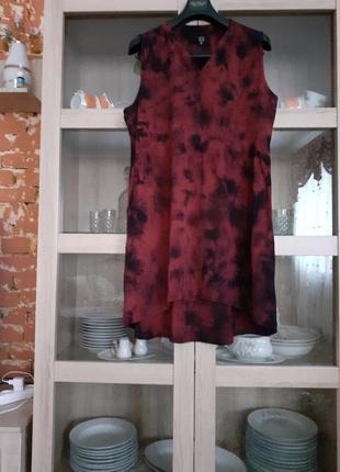 Милое вискозное платье рубашка большого размера