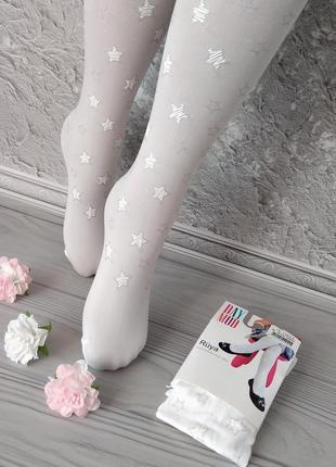 Белые капроновые колготки для девочек. супер цена! турция sale...