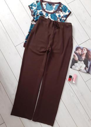 Комфортные брюки casual  из трикотажа средней плотности