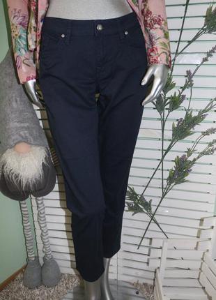 Синие укороченные брюки штаны tommy hilfiger