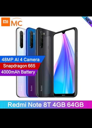 Xiaomi Redmi note 8t 4/64,NFC, black.