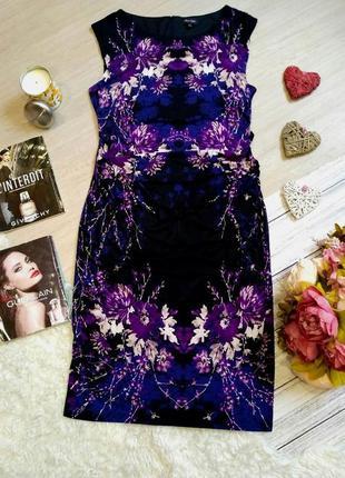 Невероятно красивое платье миди в цветы размер 16  (46-48)