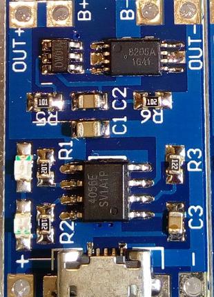 TP4056 контроллер плата зарядки литий ионовых аккумуляторов BMS