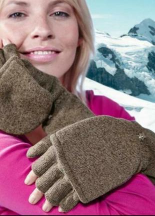 Перчатки-варежки трикотажные, 2 в 1 тсм чибо германия