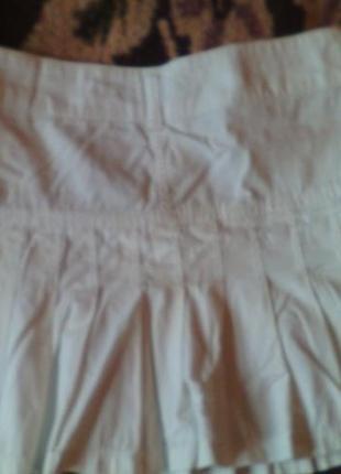 Юбка белая джинсовая