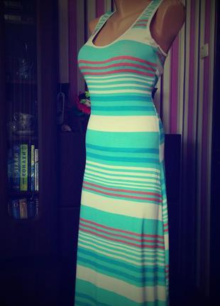 Платье сарафан длинное 48 50 размер бюстье sale в пол летнее