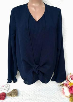 Крутая стильная блуза в полоску размер 14-16 (46-48)