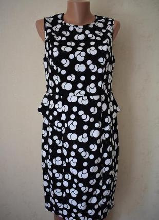 Новое натуральное платье в горошек george