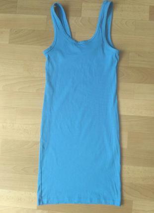Летнее  платье майка h&m небесно-голубого цвета