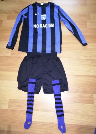 Футбольний комплект розміру L, футболка NIKE, шорти JAKО і гетри
