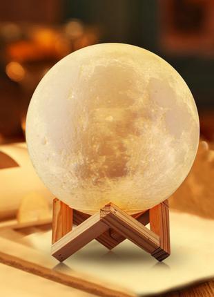 Настольный светильник Magic 3D Moon Lamp ночник лампа луна