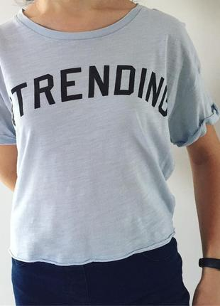 Футболка, футболка оверсайз, свободная укороченная футболка.