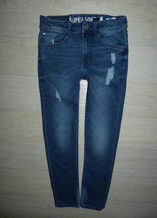 Стрейчевые джинсы h&m skinny fit 10-11 лет