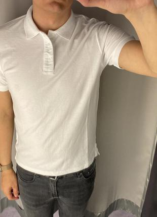 Белая футболка поло smog есть размеры