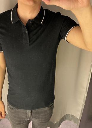 Чёрная футболка поло smog есть размеры