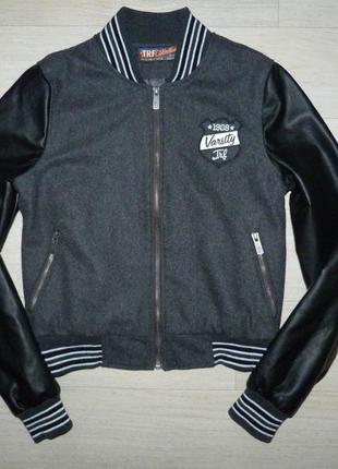 Бомбер, демисезонная куртка zara размер s (mex 36.)