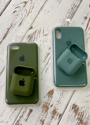 Чехол Silicone Case iPhone 6 7 8 +  X Xs Xr 11 11 Pro AirPods