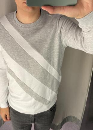 Серый свитшот без начёса толстовка smog есть размеры