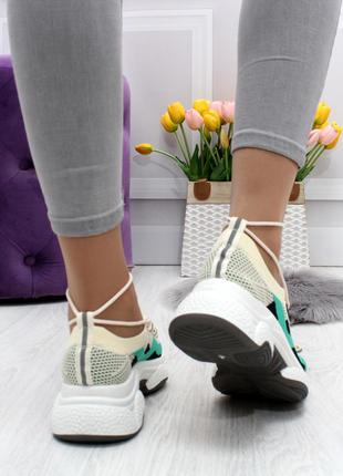 Модные кроссовки мультиколор текстиль
