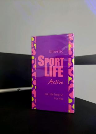 Туалетная вода для женщин Sportlife Active Спортлайф Fabelric Фаб
