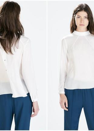 Красивая белая блуза zara размер с-м