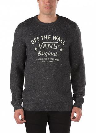 Свитер мужской серый вязаный свитшот пуловер лонгслив джемпер ...