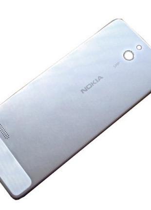 Металлическая задняя крышка Nokia 515 серебро оригинал 02504V7