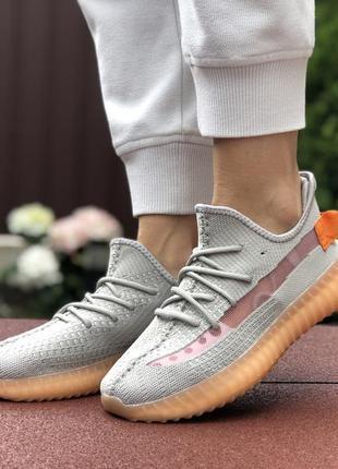 Трендовые женские кроссовки adidas yeezy boost 350 v2 серые с ...