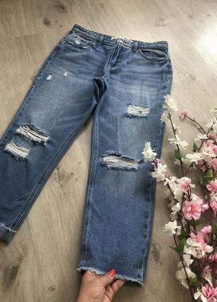 Женские рваные джинсы,
